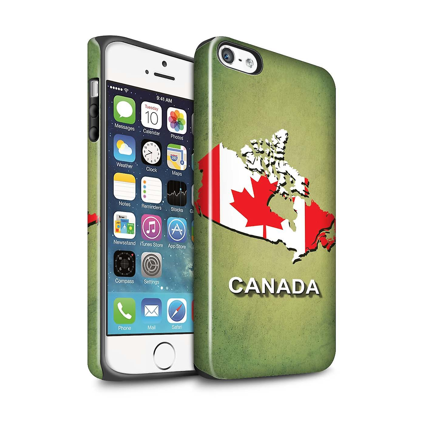 c7b698473f6 STUFF4 Gloss Tough Case for Apple iPhone 5 5S Canada Canadian Flag ...