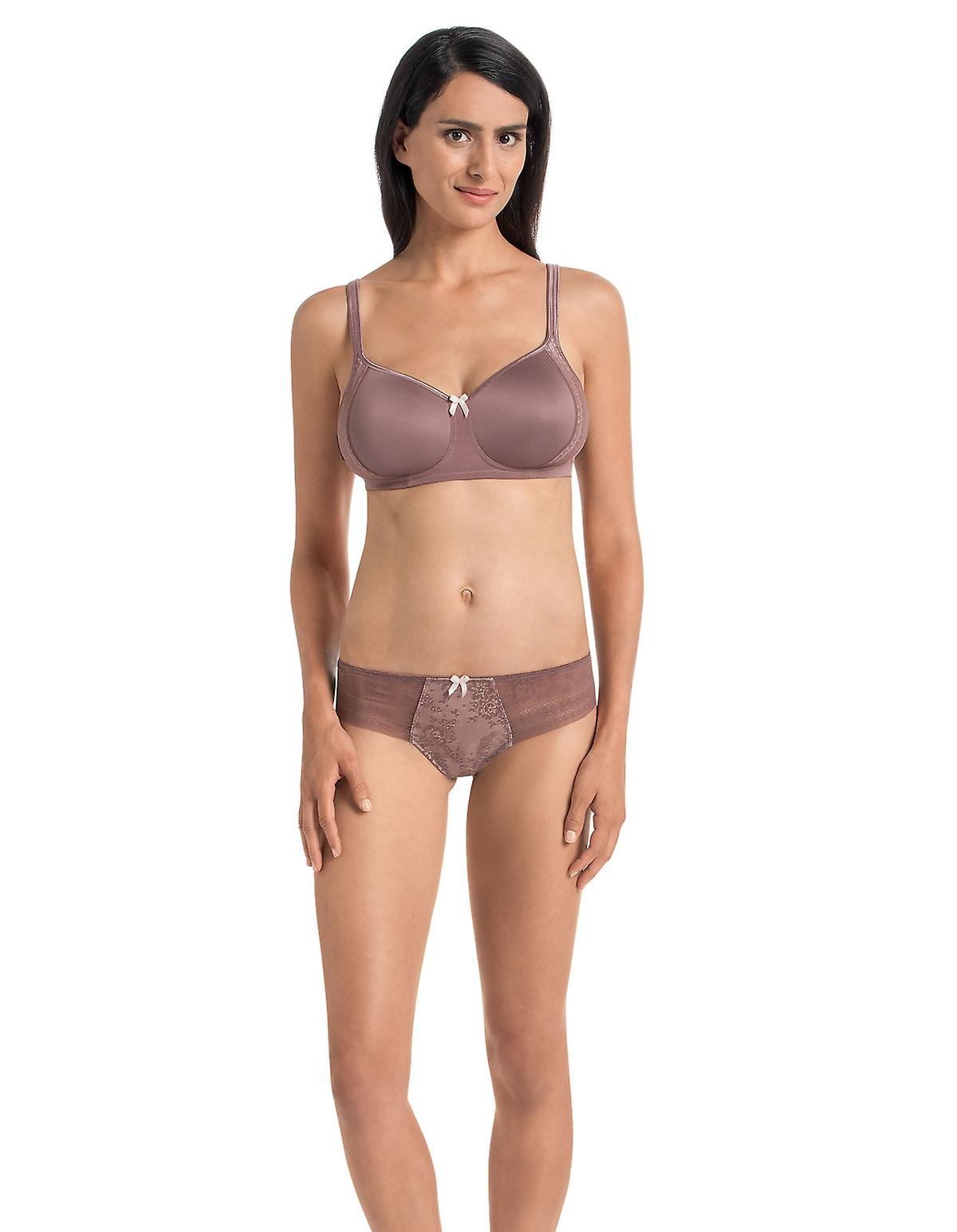 RosaFaia 1354-769 Womens Fleur Berry Pink Floral Lace Panty Thong