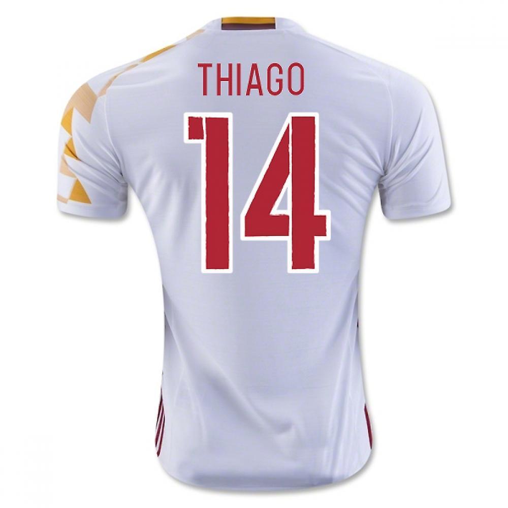 premium selection cfd8b ae900 2016-2017 Spain Adidas Away Shirt (Thiago 14)