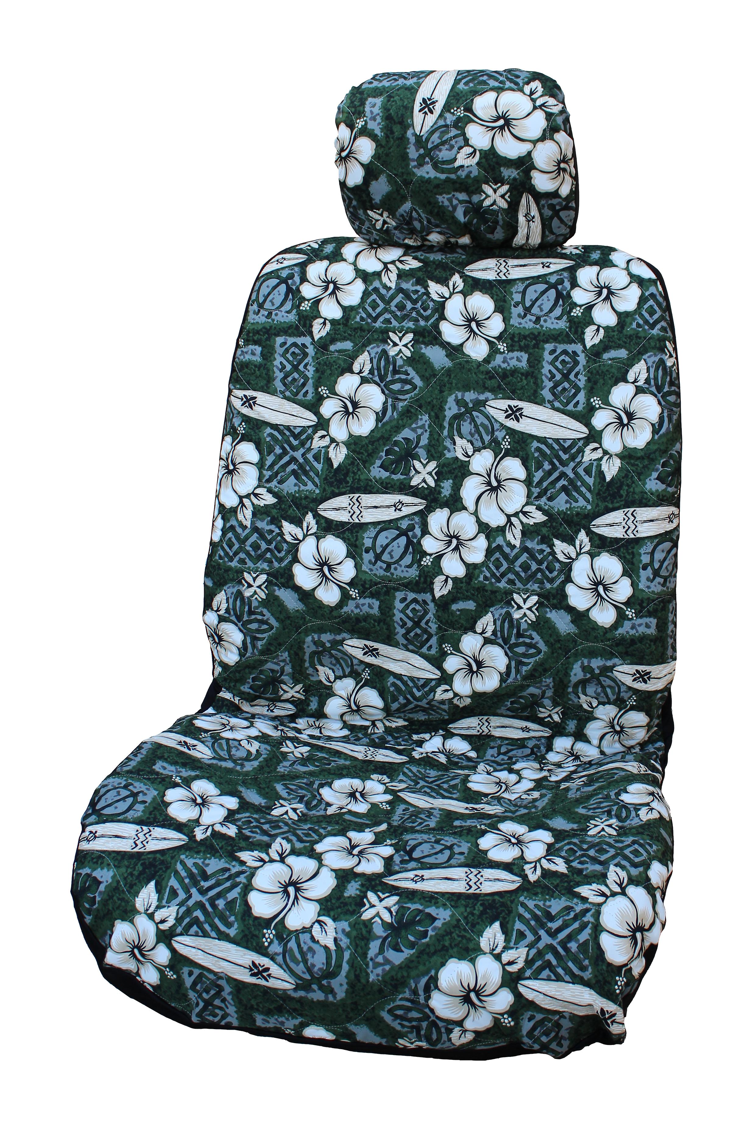Hawaiian Car Seat Covers >> Side Airbag Optional Hibiscus Surf Separate Headrests Hawaiian Car Seat Covers