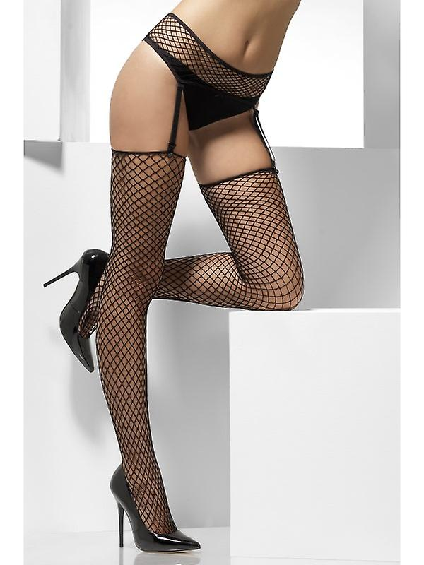 a5a17fb234d95 Black fishnet stockings with suspenders size | Fruugo