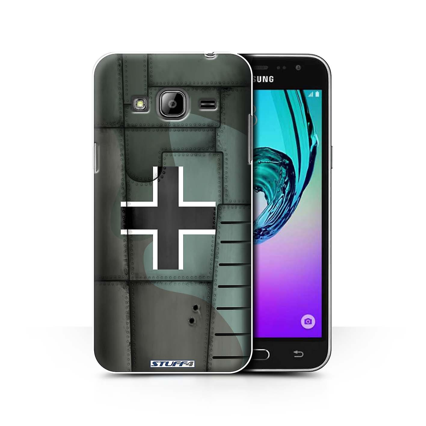 STUFF4 Case/Cover for Samsung Galaxy J3/Germany/Green/Airplane Fighter Wing