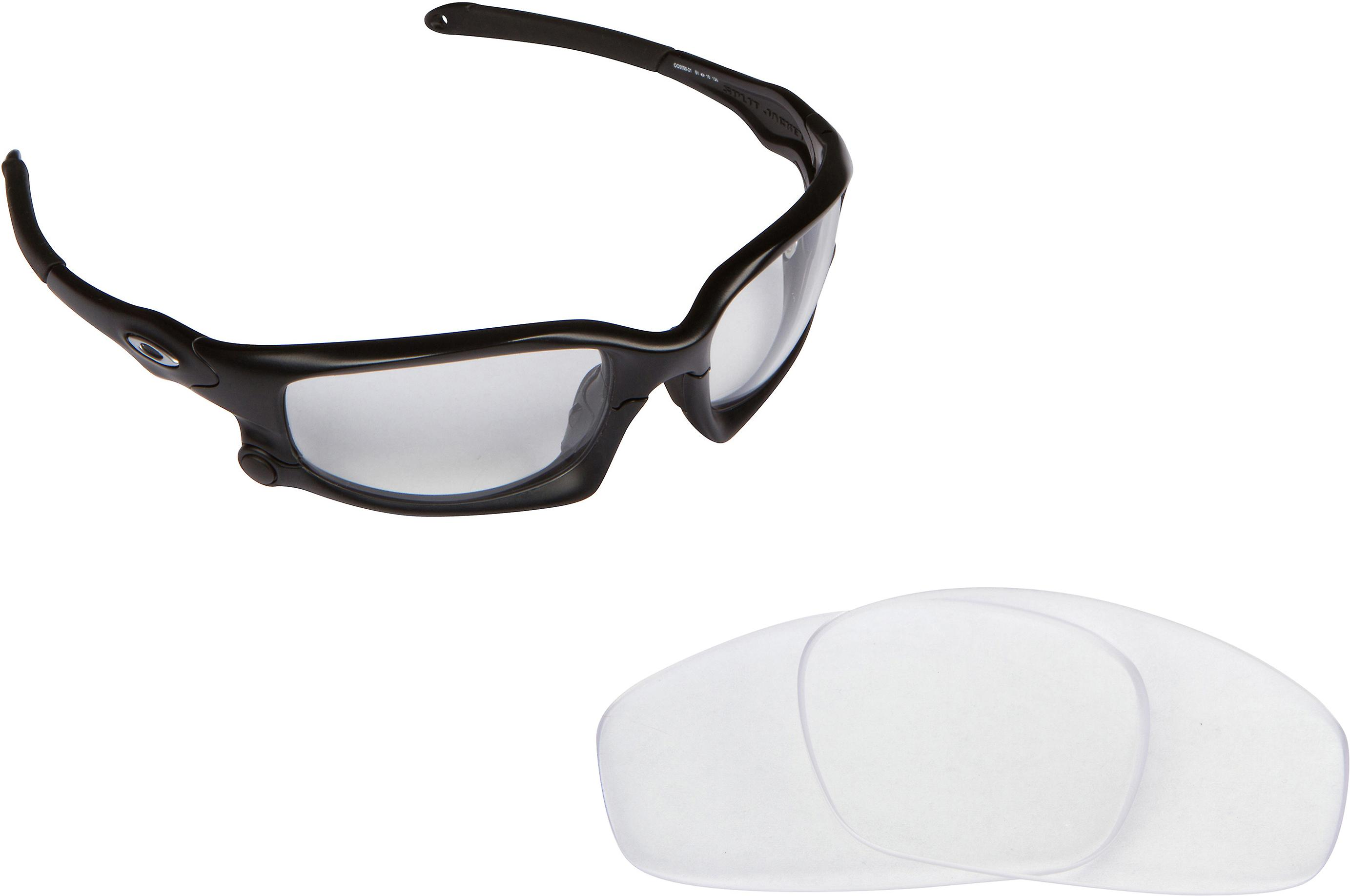 adda84c1ac2 Split Jacket Replacement Lenses Crystal Clear by SEEK fits OAKLEY Sunglasses