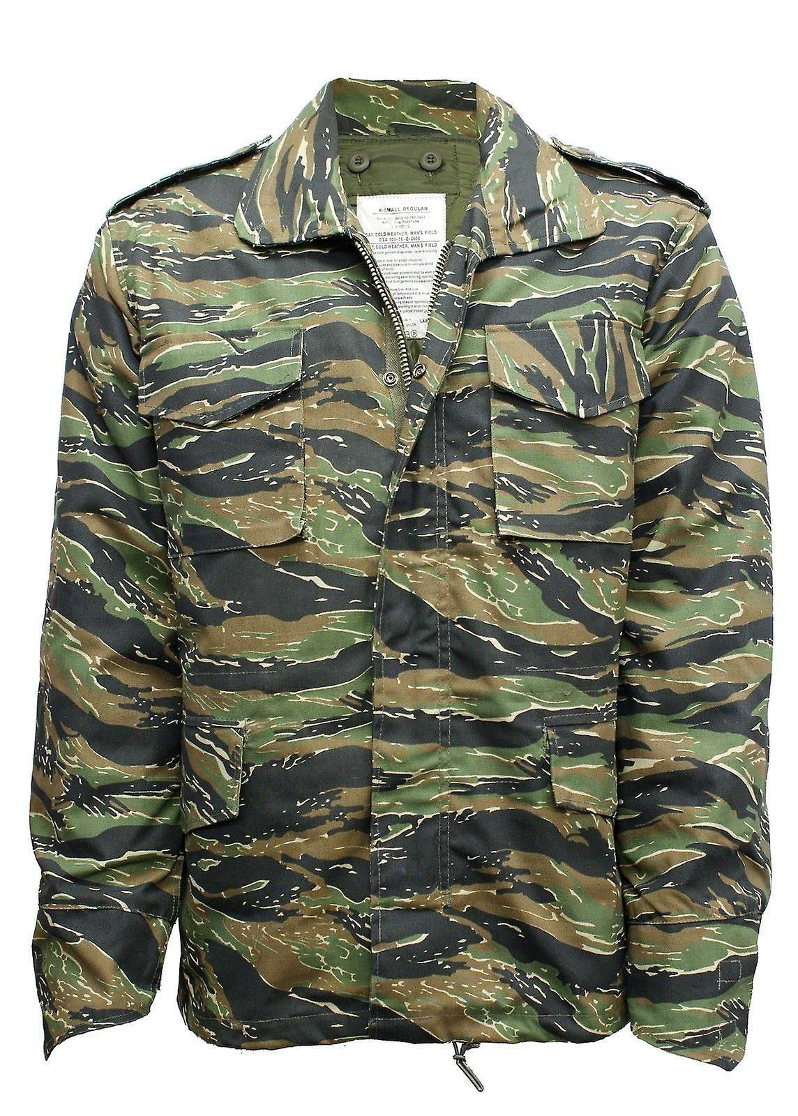bbf8525f16c34 Vintage M65 Jacket Us Army Combat + Quilted Liner | Fruugo
