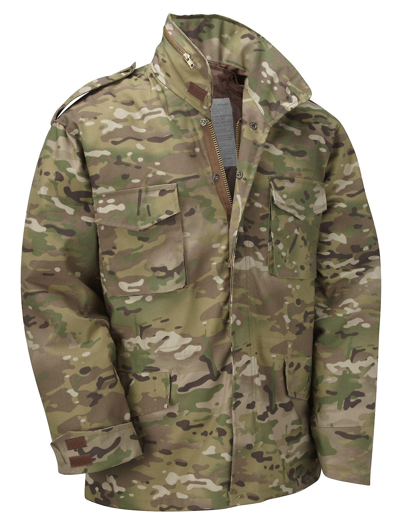 7c60700e1baa4 Vintage M65 Jacket Us Army Combat + Quilted Liner | Fruugo