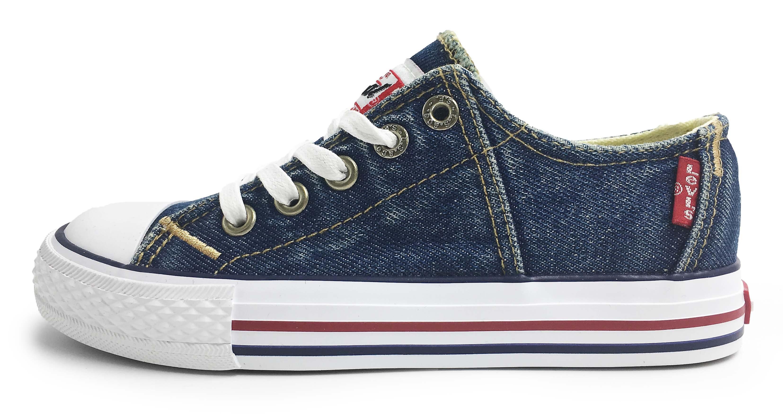 41f491d9793d0 Levis Red Tab Low Lace Canvas Shoes Blue