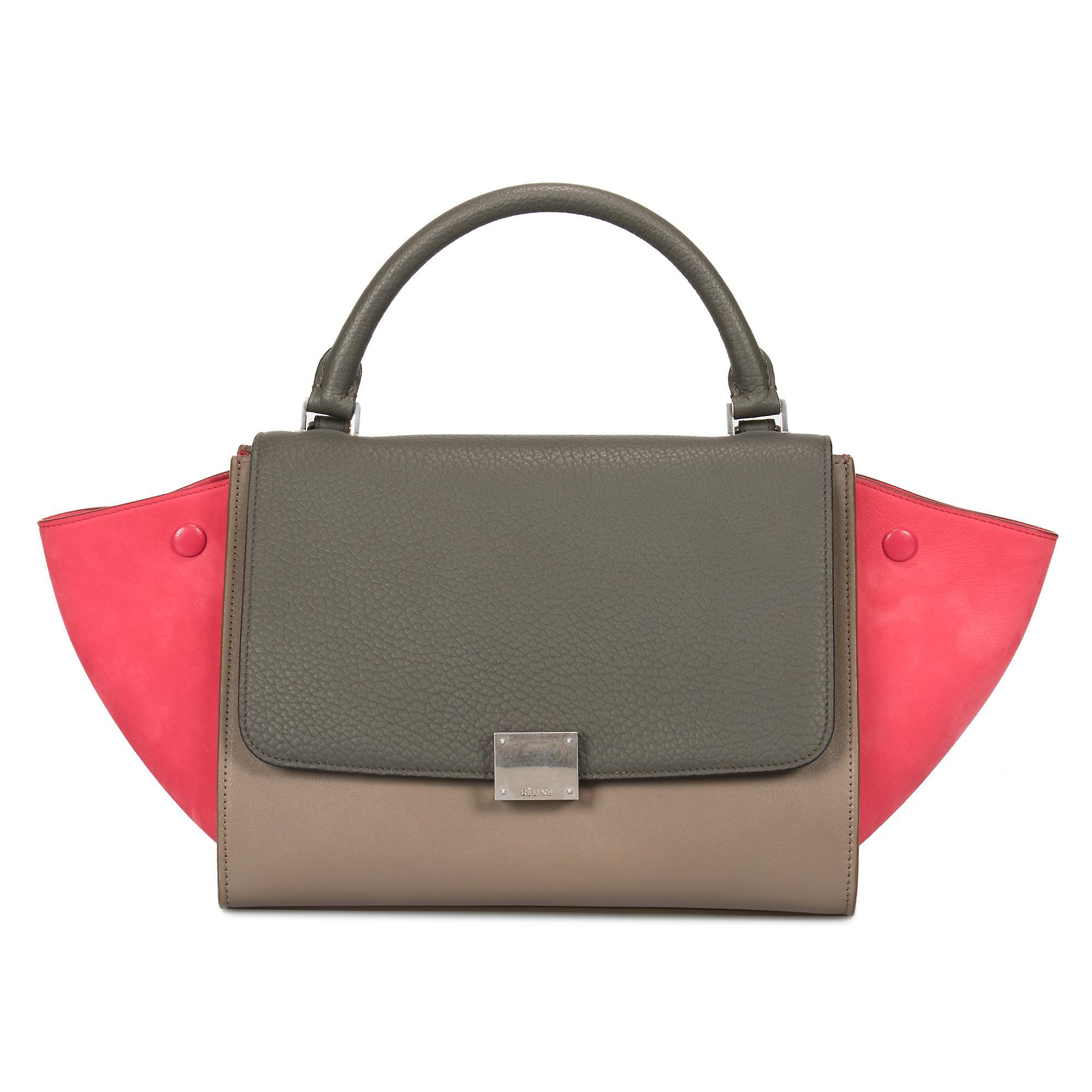 Celine lille tri color Trapeze læder taske