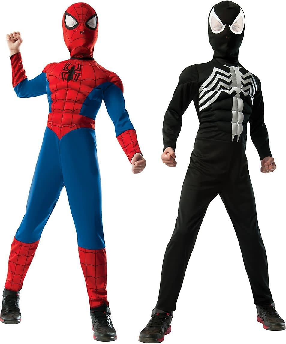Deluxe vändbar Spiderman barn kostym