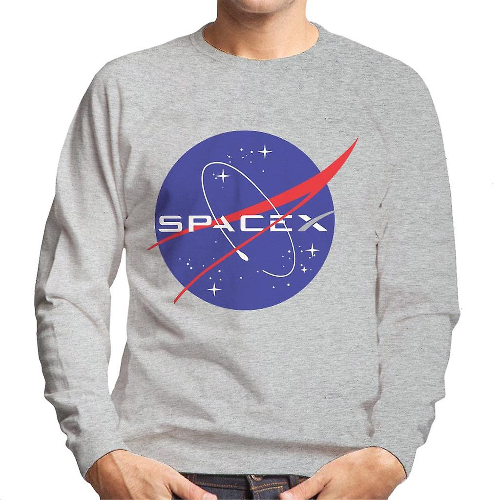 Elon Musk Nasa Spacex Logo Mix Men's Sweatshirt