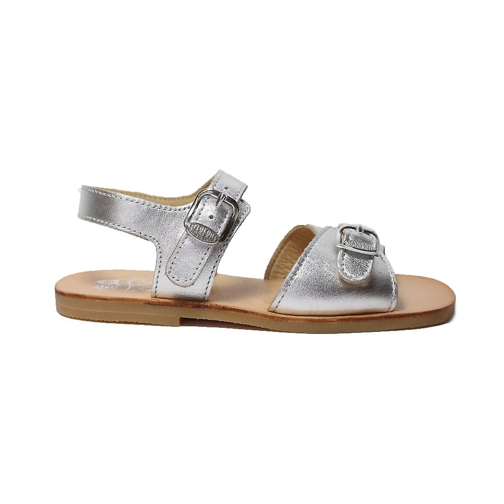 Startrite Girls Bailey Silver Leather Buckle Sandals
