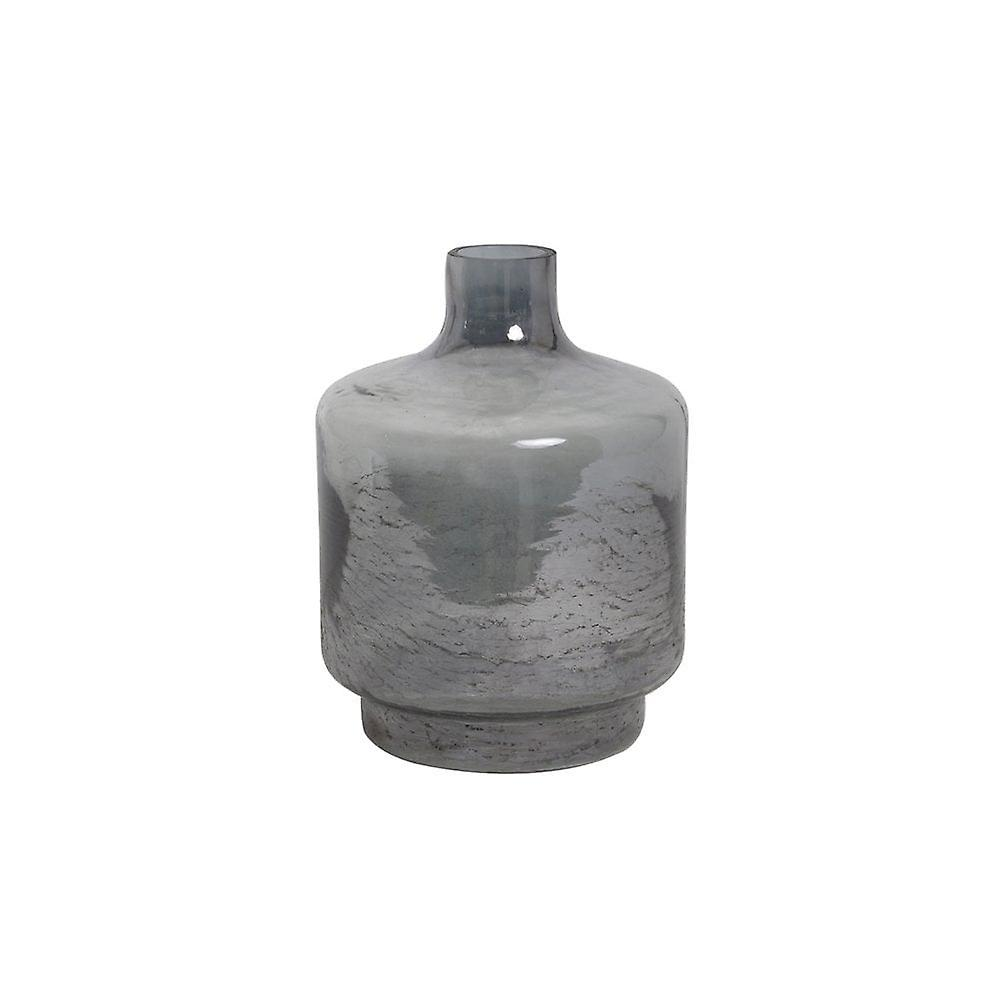 Light & Living Vase 19x26cm Teques Glass Grey Gluster