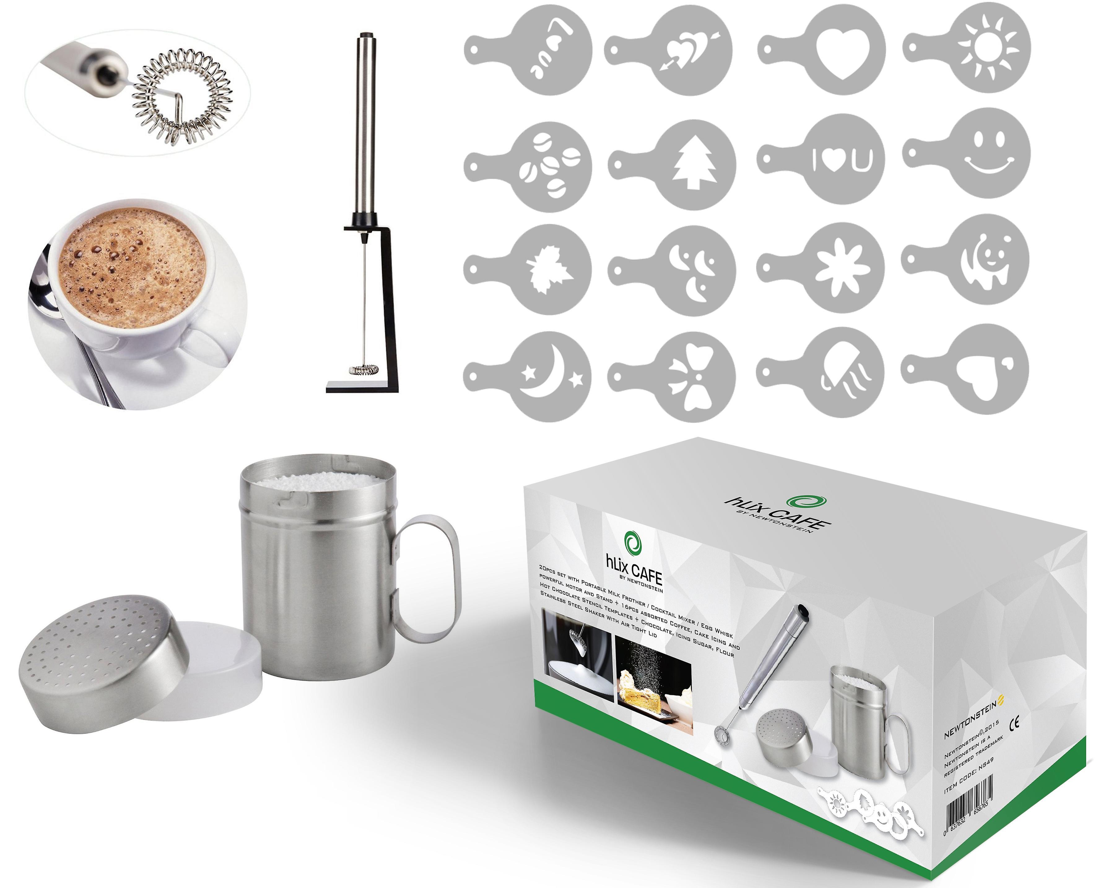 HLix café - 20pcs conjunto con espumador Portable o de Cóctel ...
