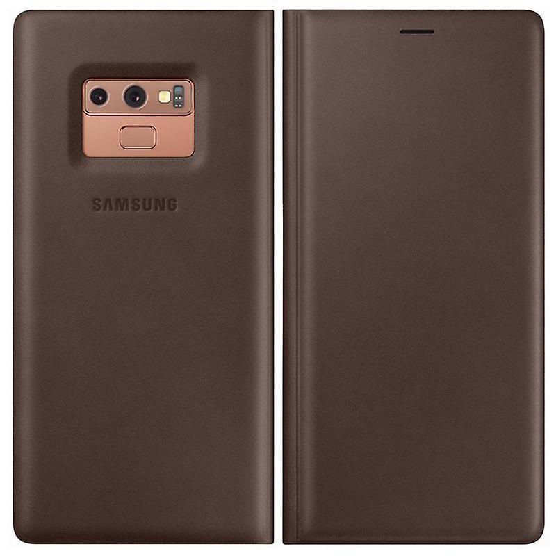 Cuero Note Ef 9 Bolsa Galaxy Brown Wn960laegww Para N960f Funda Samsung SLzGMqUpV