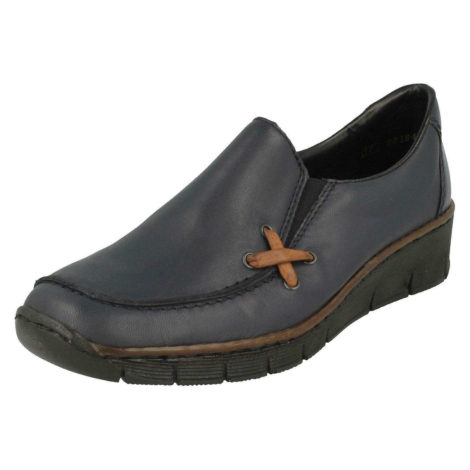 Ladies Rieker Wedge Heel Shoes 53783