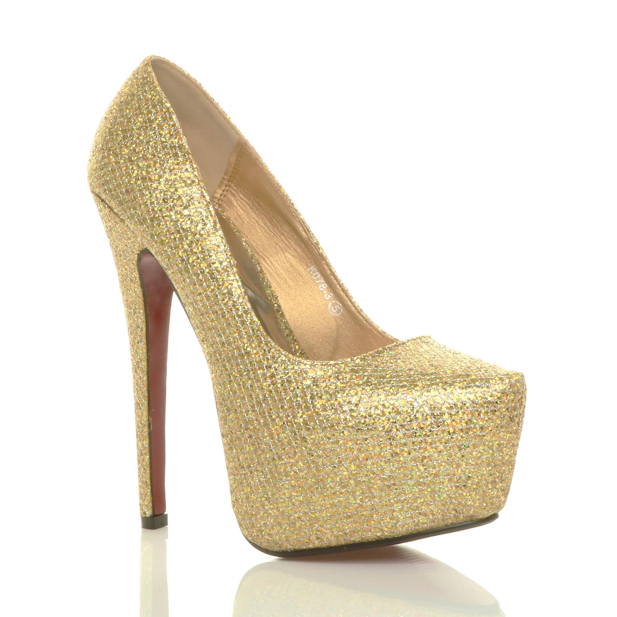 c01175053e6 Ajvani womens stiletto high heel concealed platform party court shoes pumps