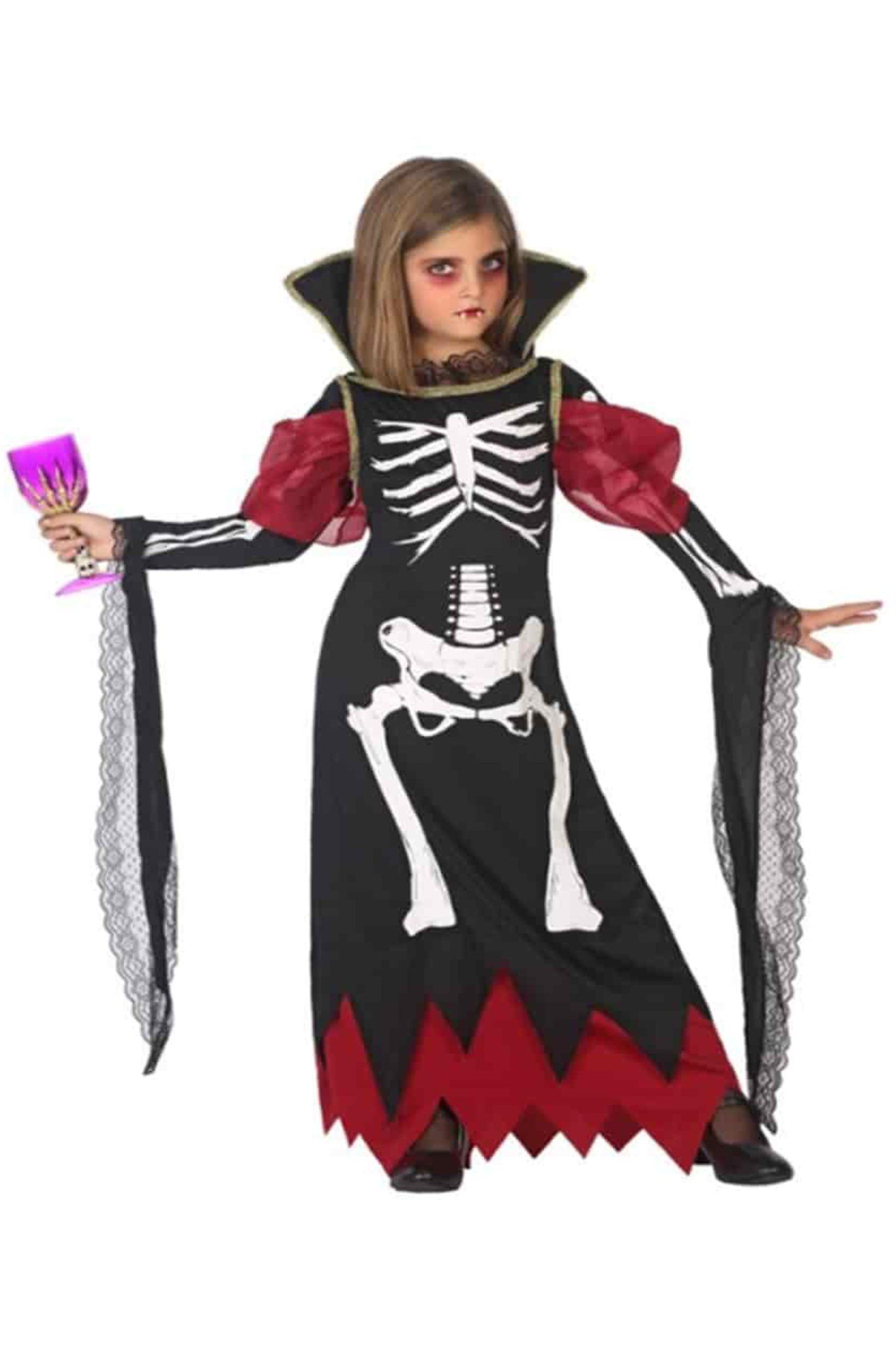 Trajes De Los Niños Vestido De Vampiro De Halloween Para Niñas