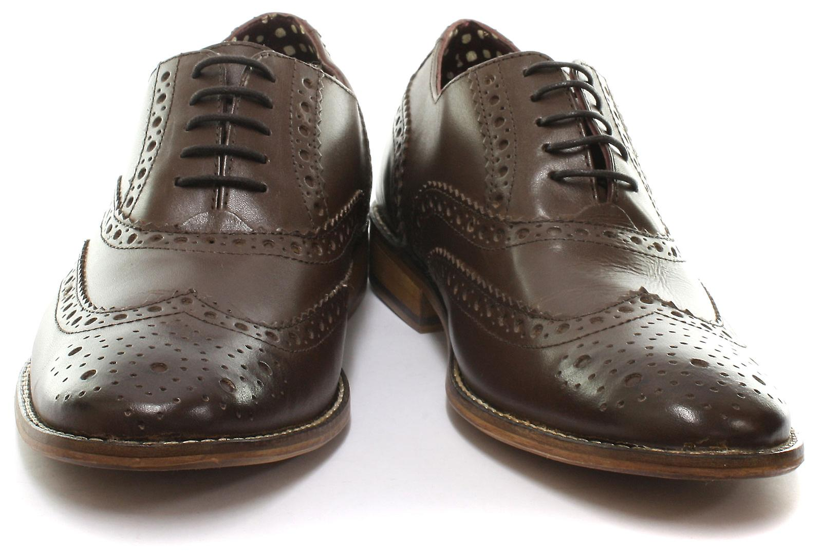 a579a6e891c35 London Brogues Gatsby Brown Leather Mens Brogue Shoes UK