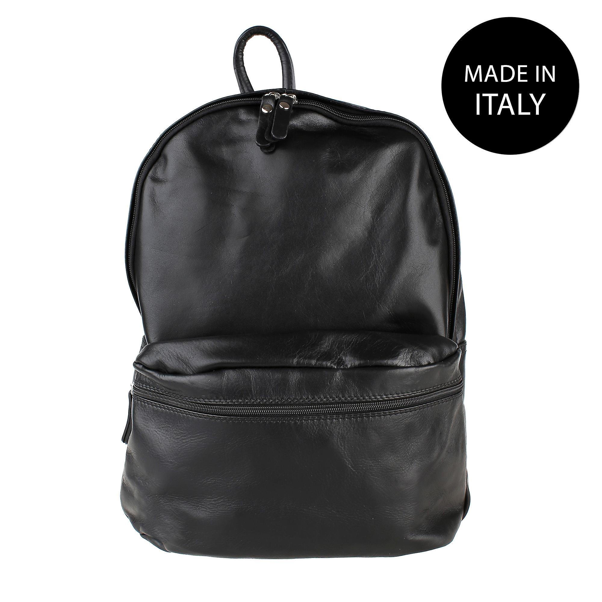 Læder rygsæk i italiensk læder