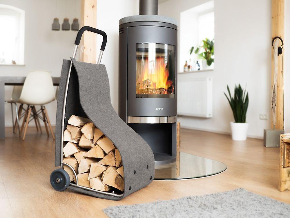 Filz Trolley Feuer Holz Korb Kamin Holz Korb Zur Aufbewahrung Für