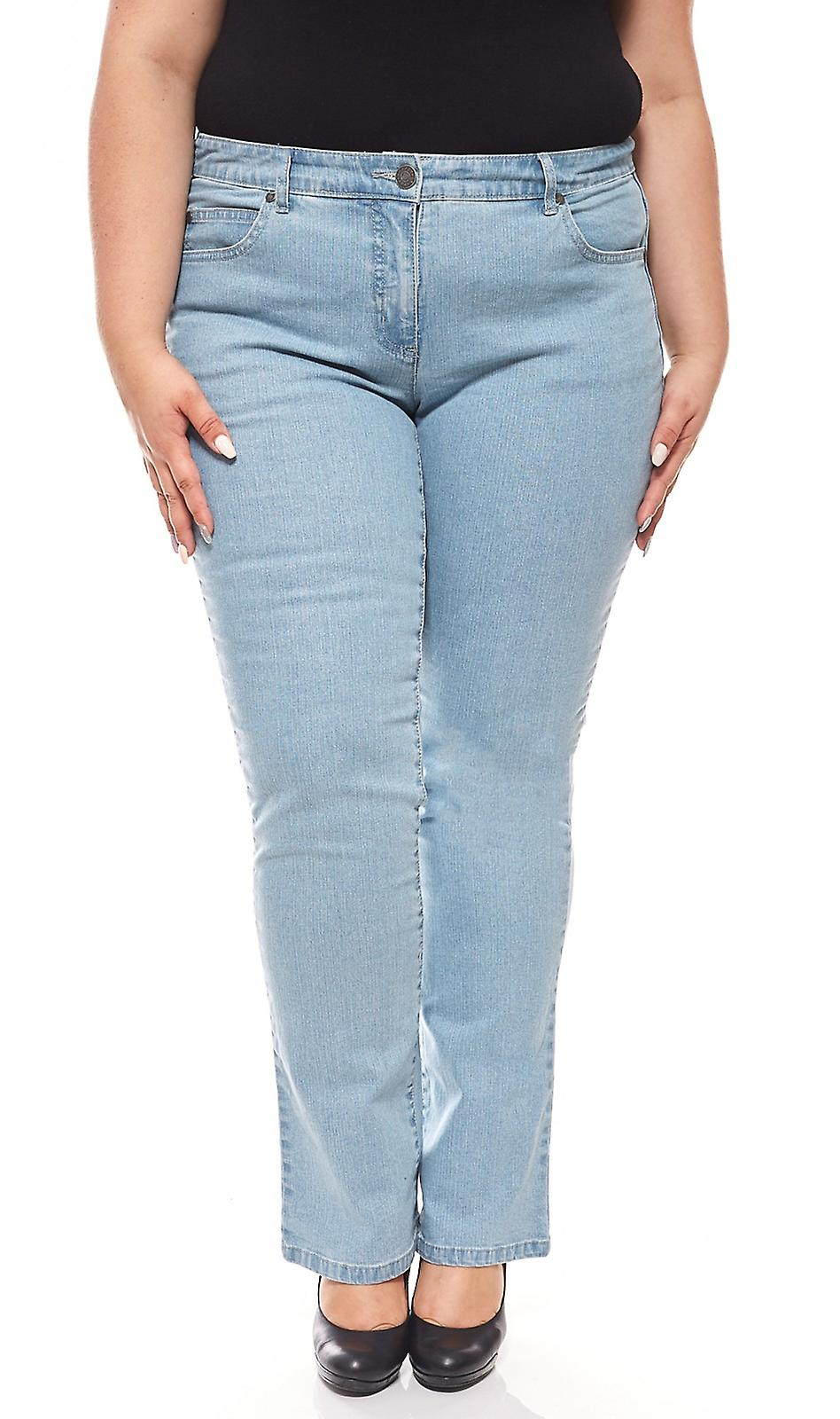 b17a6b51cdeed sheego denim stretch jeans with embroidery plus size blue