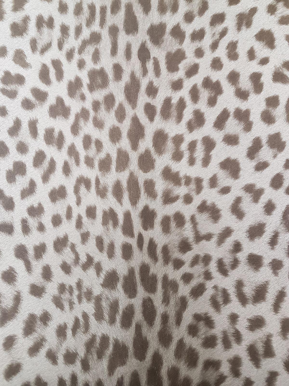 Dierlijke Print Leopard Wallpaper Getextureerde Grijs Bruin Plakken Muur Vinyl Deco 4 Muren