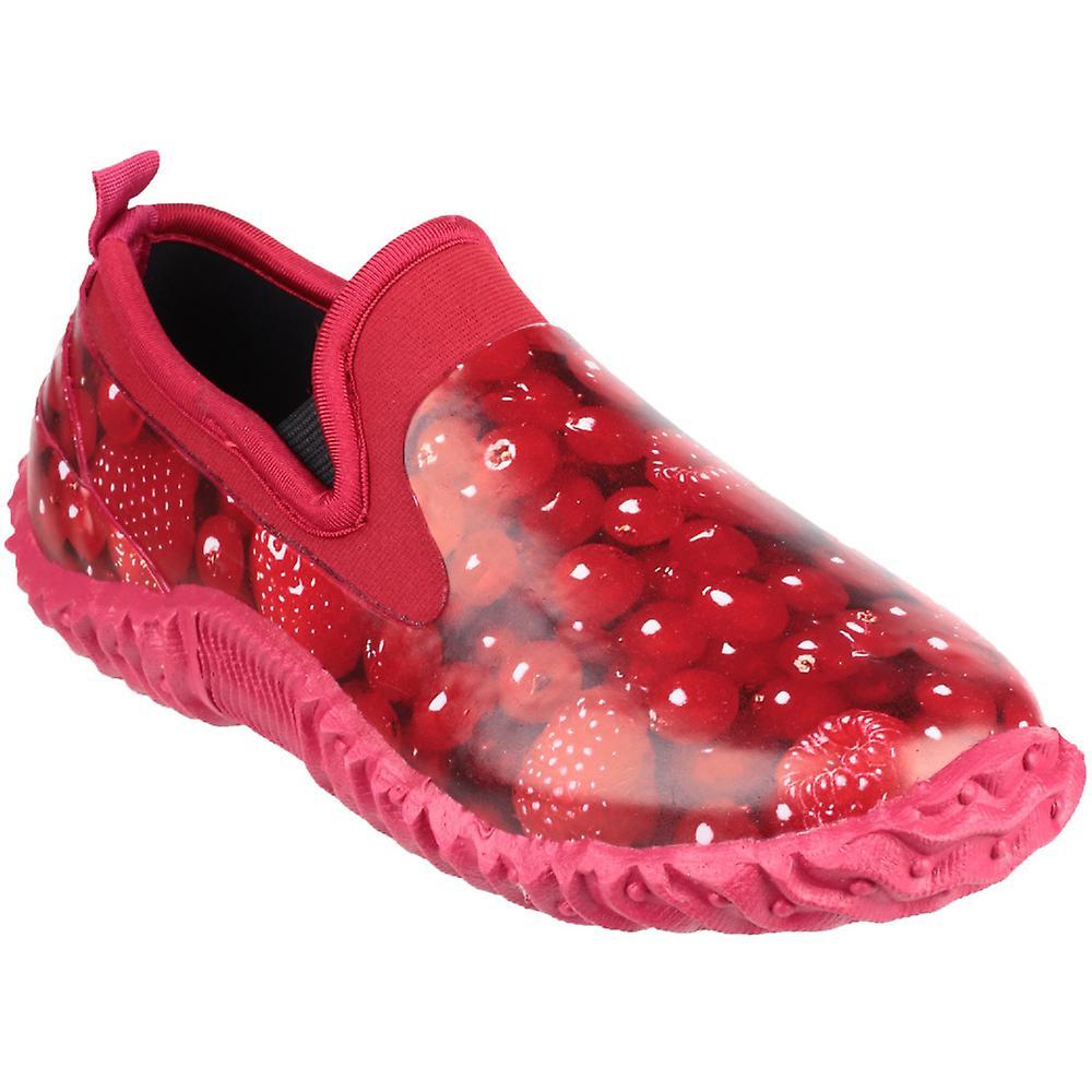 Cotswold damer bagdør High Def Print vandtæt have sko rød