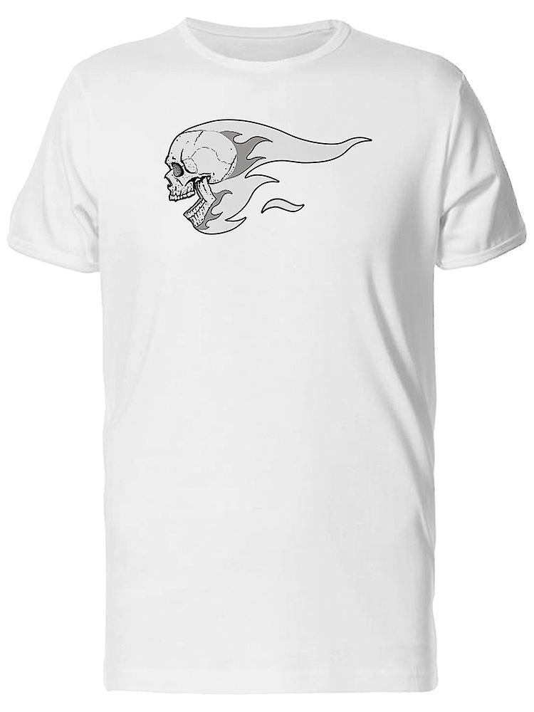 c36b3b00e5ce62 Graue Flammen Totenkopf T-Shirt Herren-Bild von Shutterstock