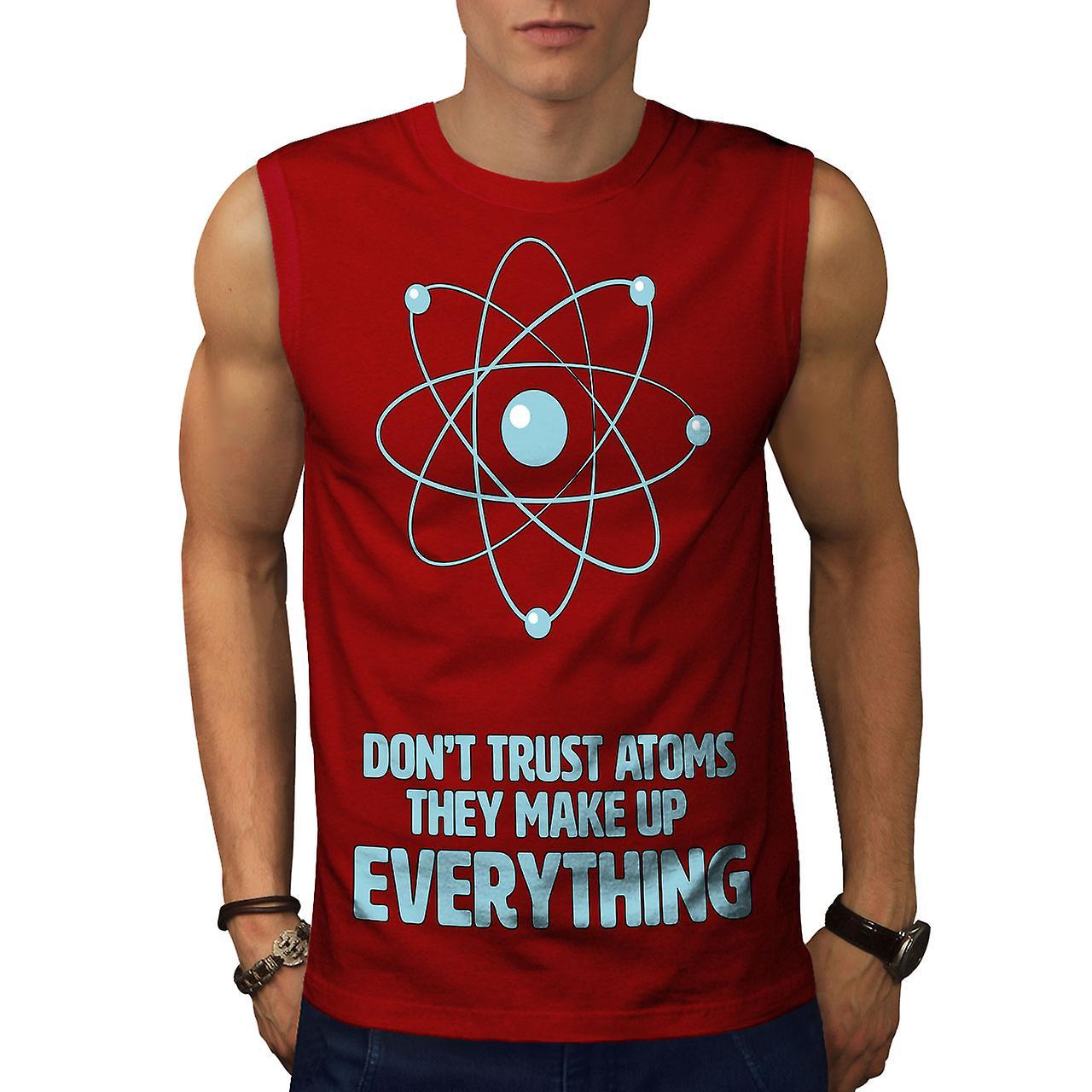 Redsleeveless Atom Don't Men T ShirtWellcoda Trust Fruugo A35qjLc4RS