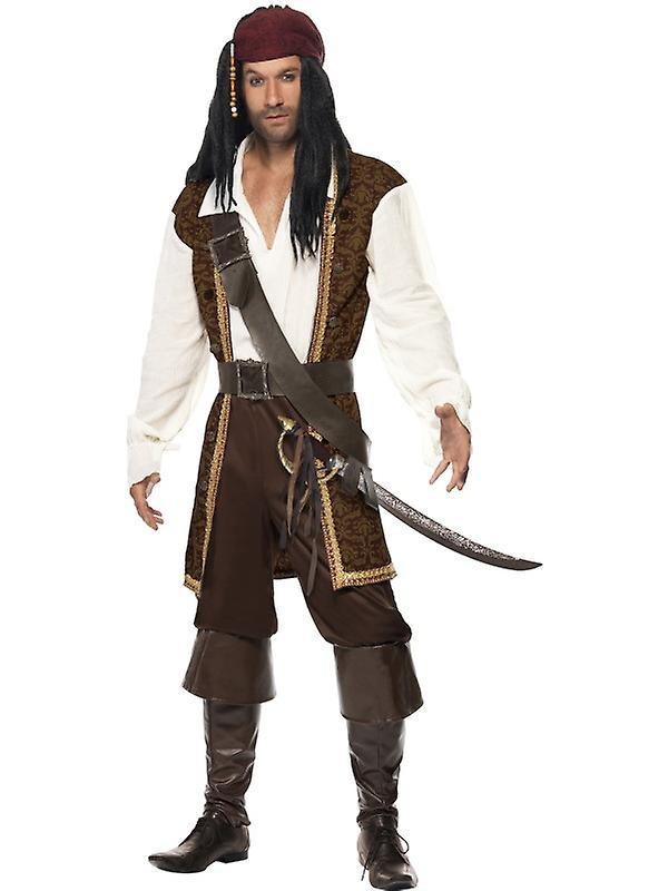 Bambini Bimbi Bambino Pirati dei Caraibi Costume BUCANNER M