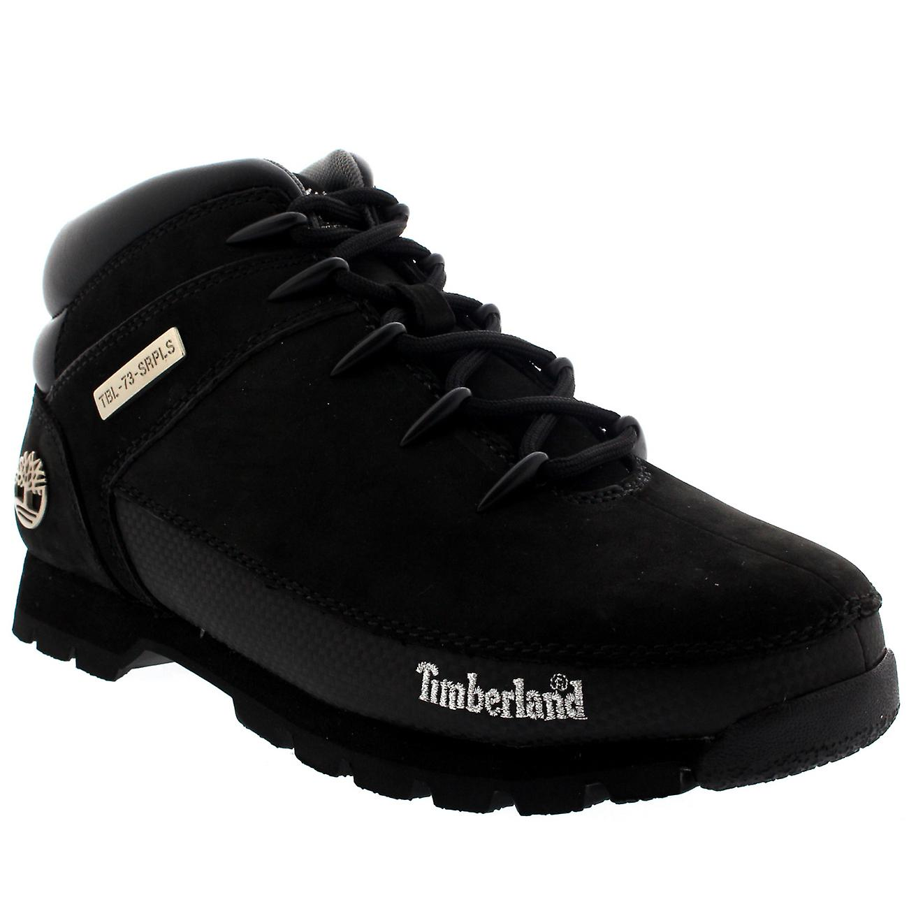 2a73506384b Mens Timberland Euro Sprint Leather Dark Brown Winter Hiking Ankle Boots