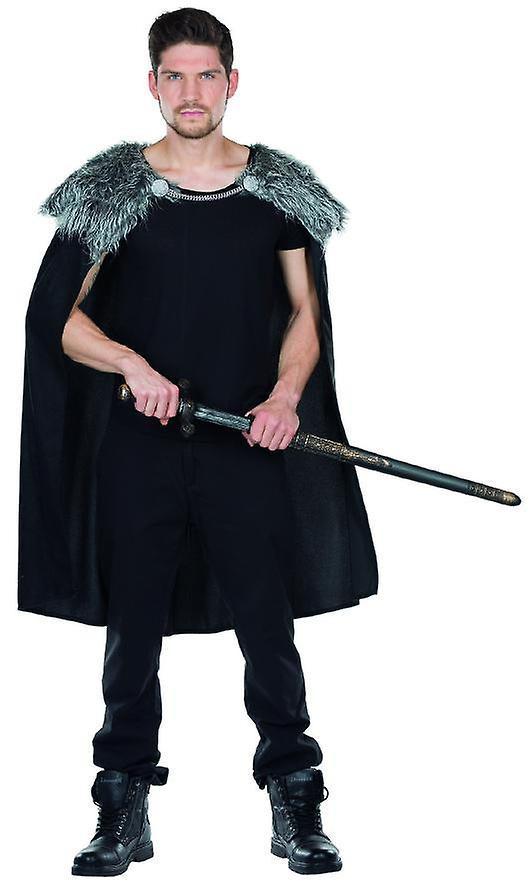 Wolfskrieger Cape Herren Kostum Umhang Krieger Wikinger Karneval