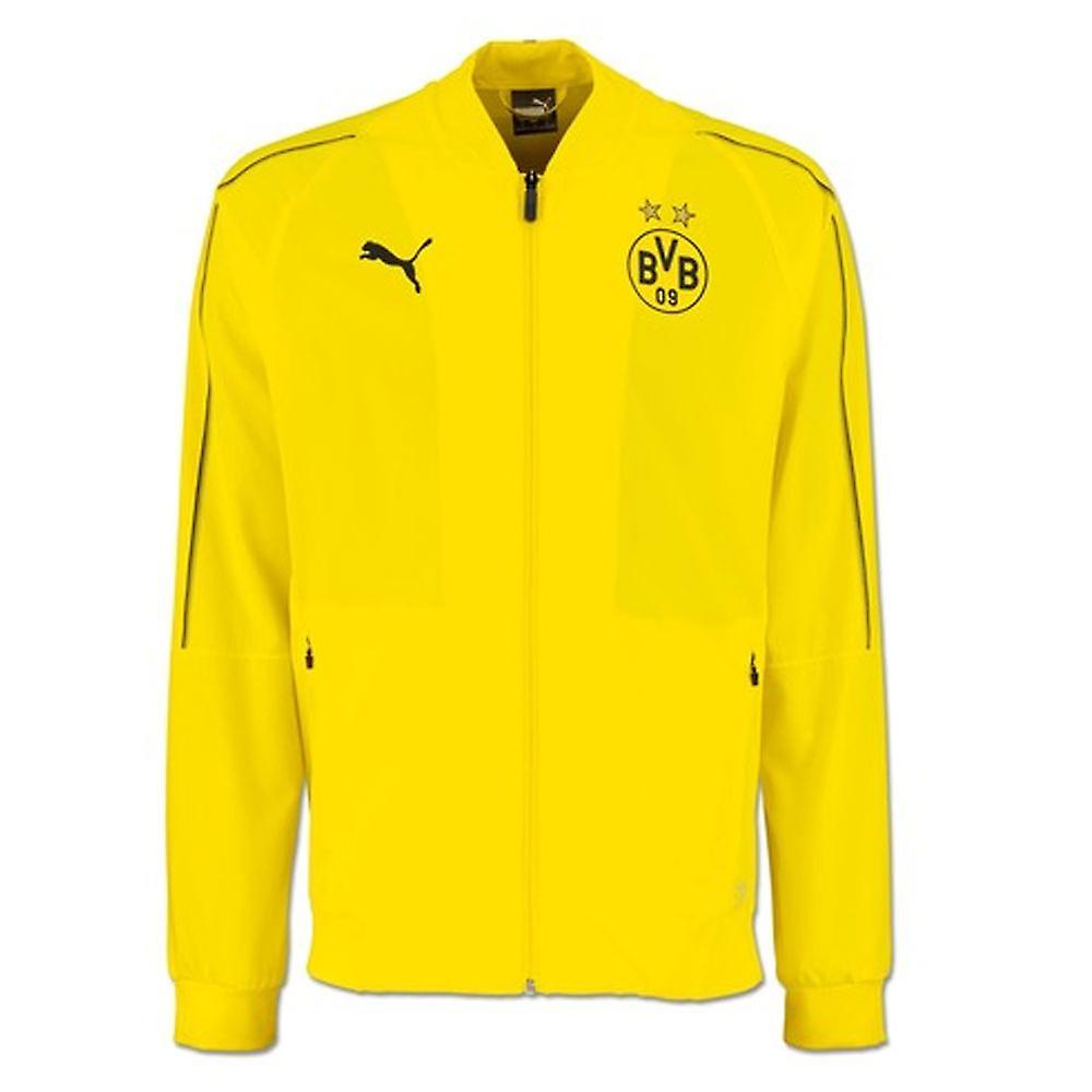 bd1adf5b86d1 2018-2019 Borussia Dortmund Puma Leisure Jacket (Yellow)