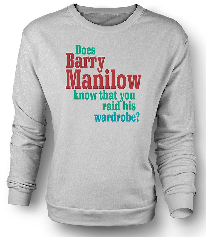 Womens Sweatshirt Hat Barry Manilow Wissen Zitat Lustig