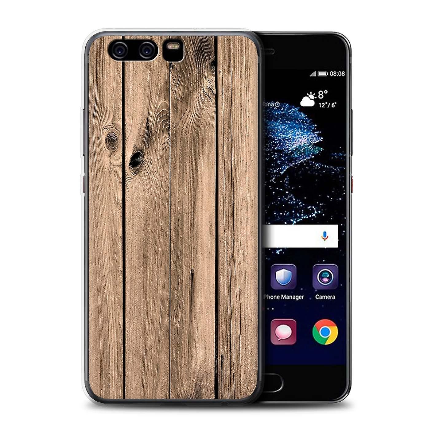 buy online b22e1 79f9b STUFF4 Gel TPU Phone Case/Cover for Huawei P10 / Plank Design / Wood Grain  Effect/Pattern Collection