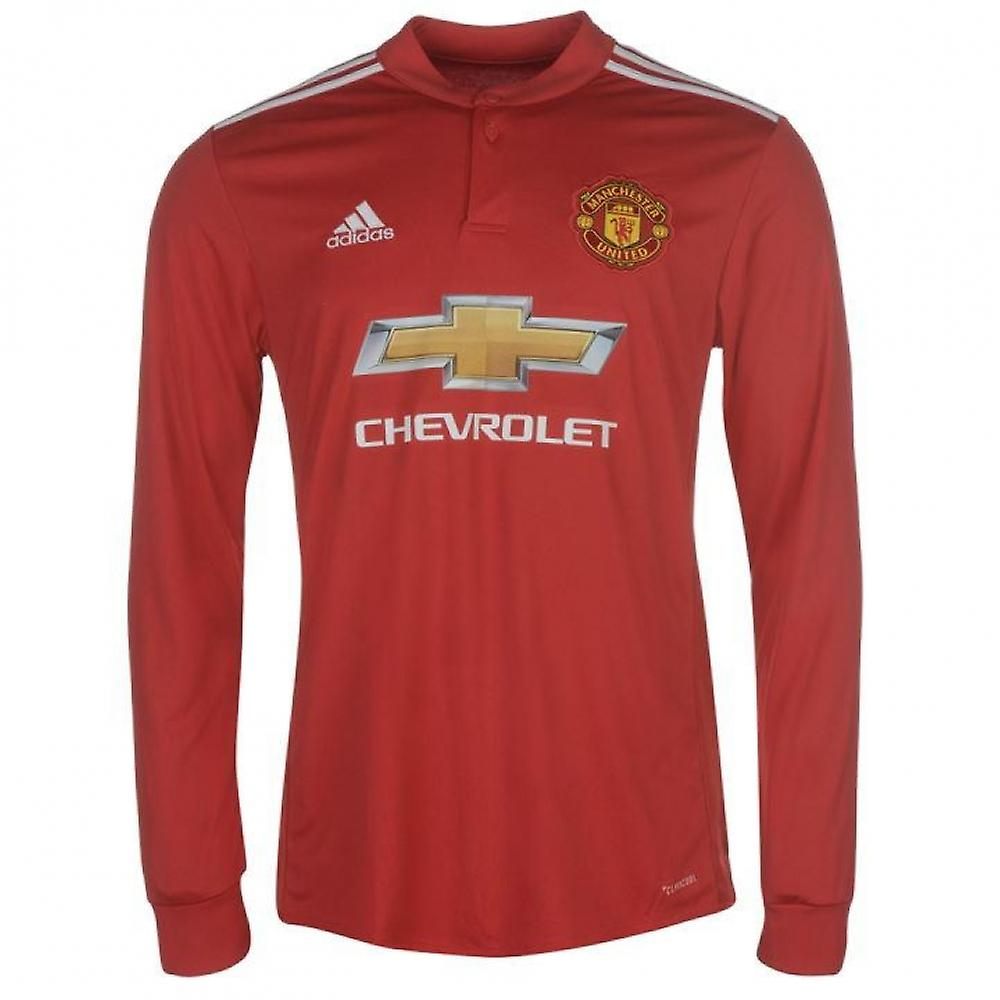 d2f5dcc8f14 2017-2018 Man Utd Adidas Home Long Sleeve Shirt