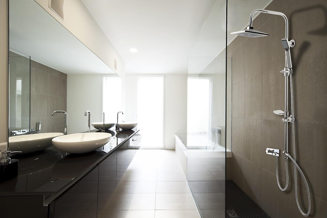 Lifa Living Rain Shower Shower Set Shower Set Overhead Shower Shower Rod 96cm Head Shower Complete Shower Shower Shower Rvs Chrome Look
