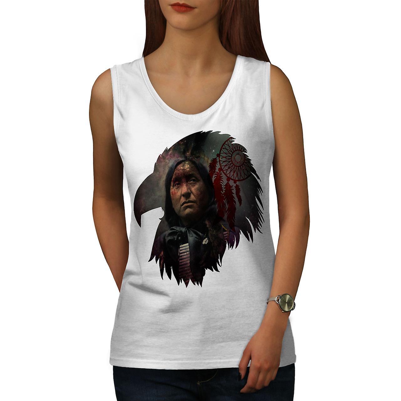 Indian Chief Cool Women Whitetank Top Wellcoda Fruugo