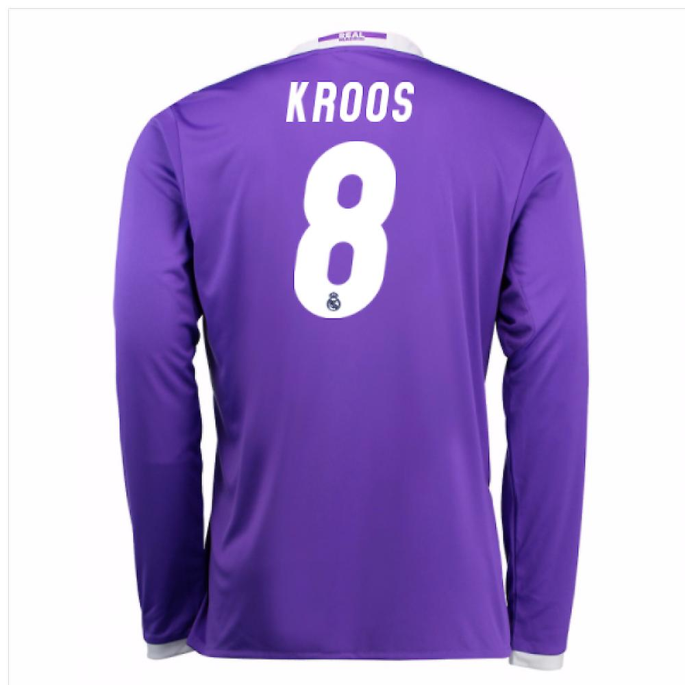 info for 5ecc3 f64ce 2016-17 Real Madrid Away Shirt (Kroos 8) - Kids