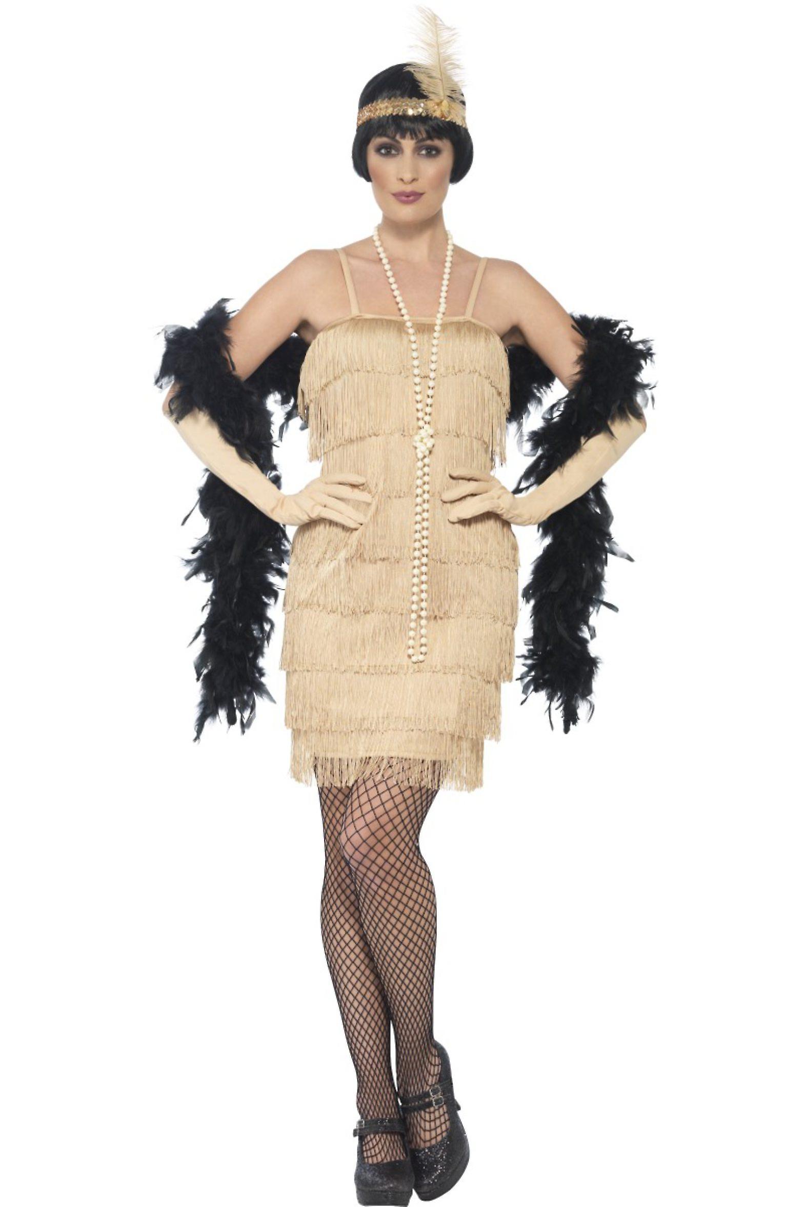 Kvinnor kostymer charleston Flapper klänning guld 50   5d3db62ad7267