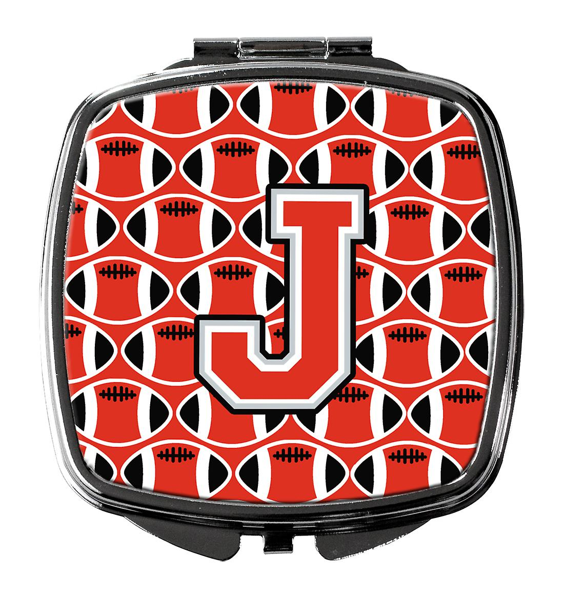 Letter J Football Scarlet And Grey Compact Mirror Fruugo