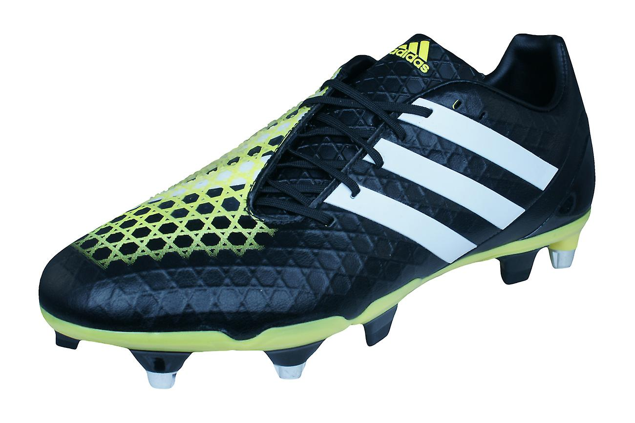vente chaude en ligne e2b45 836c3 adidas Predator Incurza SG Mens Rugby Boots - Black and Yellow