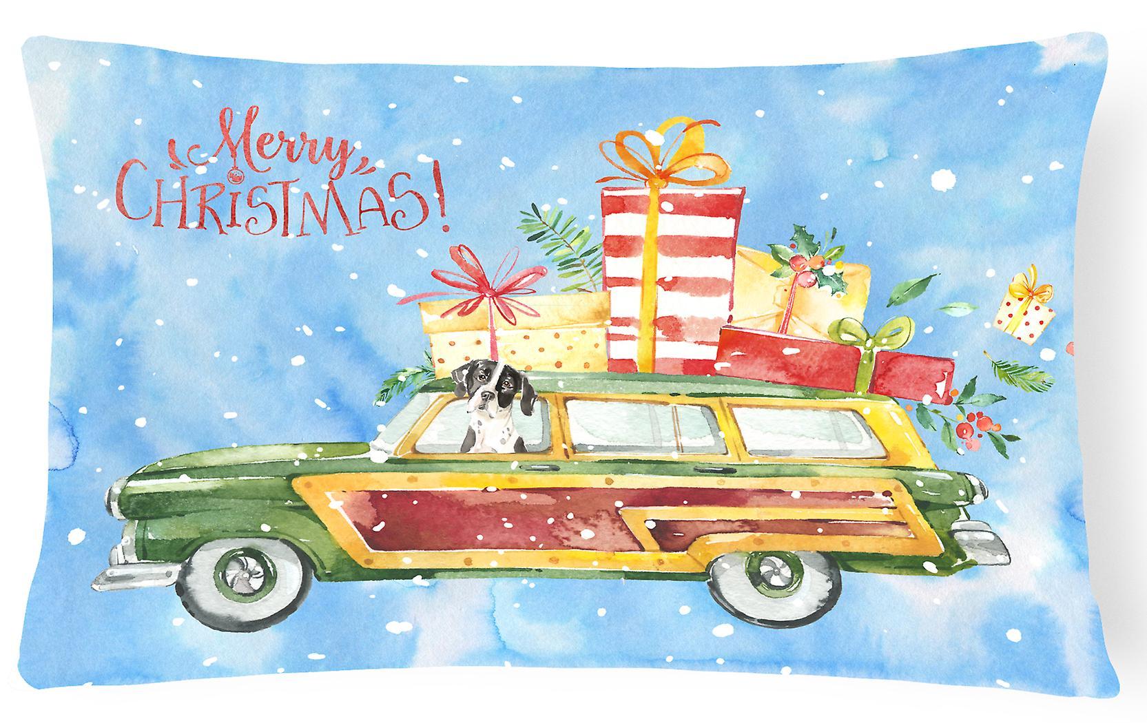 Frohe Weihnachten Englisch.Frohe Weihnachten Englisch Zeiger Canvas Stoff Dekorative Kissen