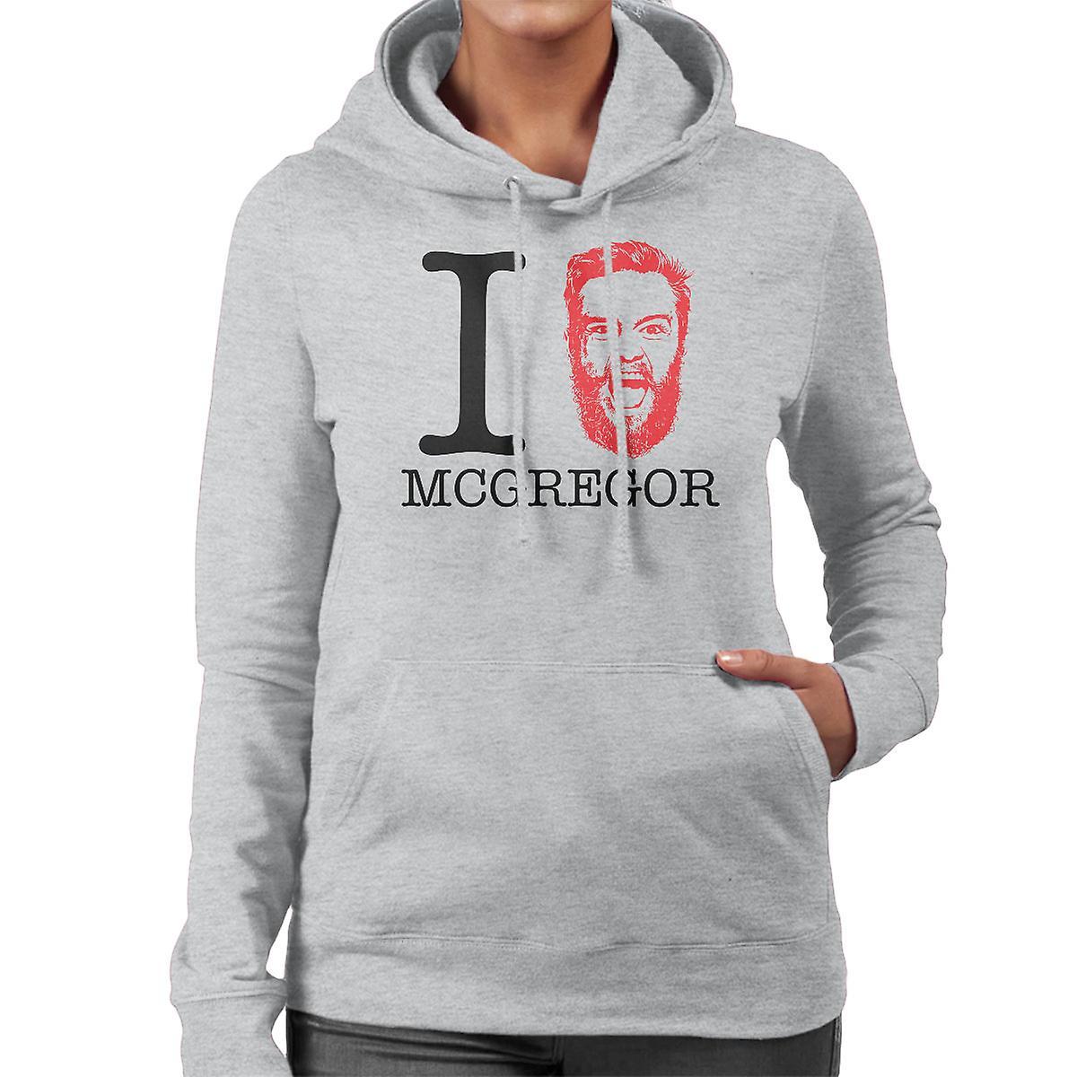 ich liebe conor mcgregor damen sweatshirt mit kapuze fruugo. Black Bedroom Furniture Sets. Home Design Ideas
