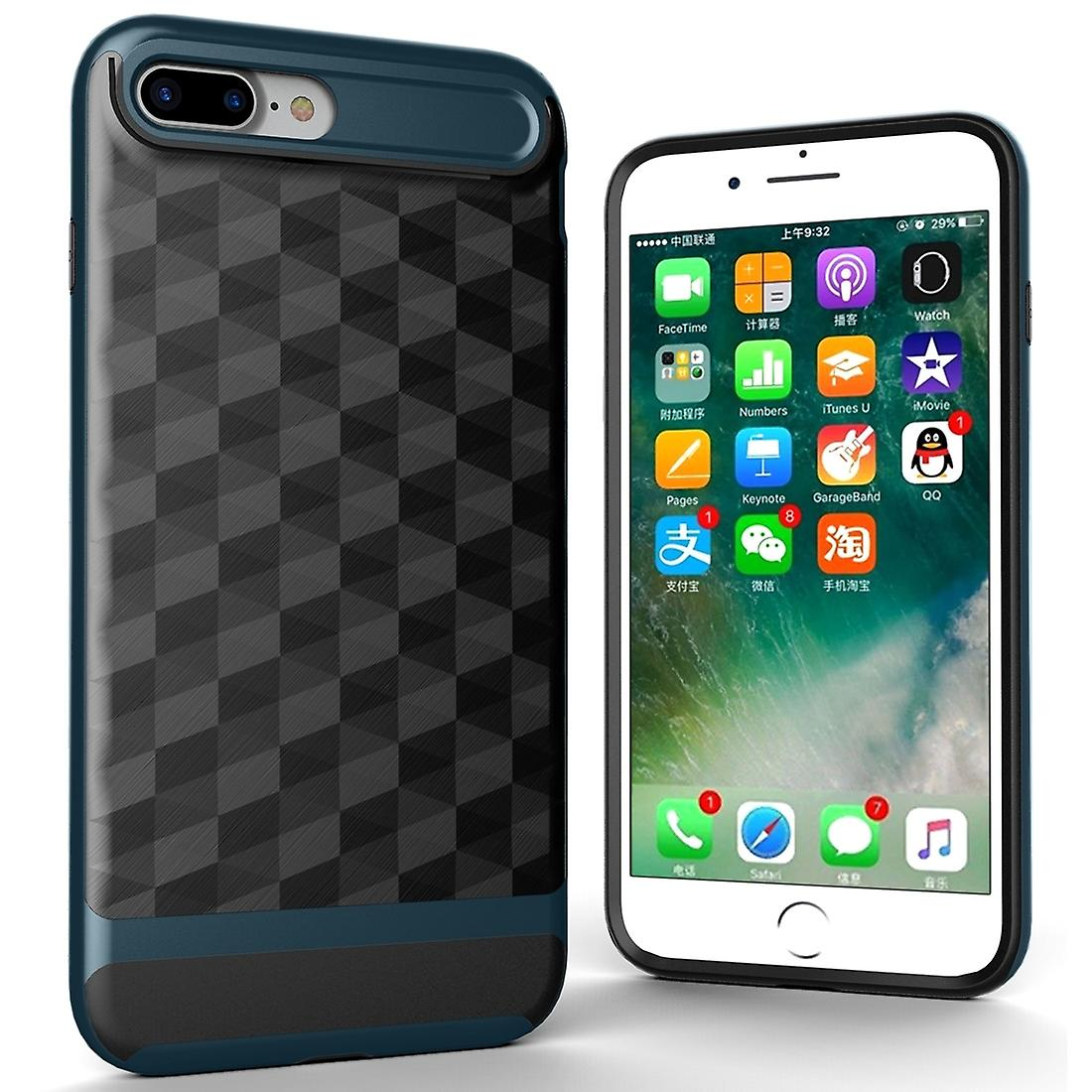 the best attitude 50860 df54d Cover for Apple iPhone 8 plus back cover case cell phone cover - cover 3D  Prism design Navy Blue