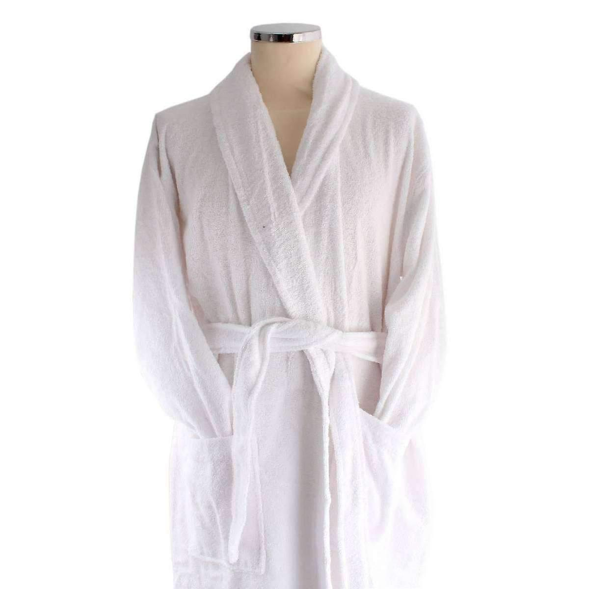 Bown of London Terry Egyptian Cotton Dressing Gown - White | Fruugo