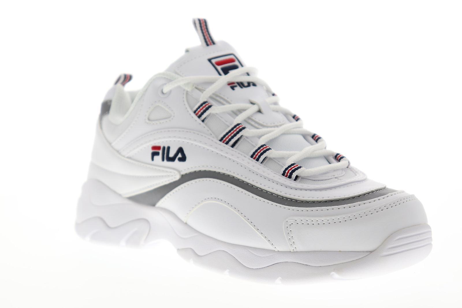 Fila Ray kvinner hvit casual Lace opp lav topp joggesko sko