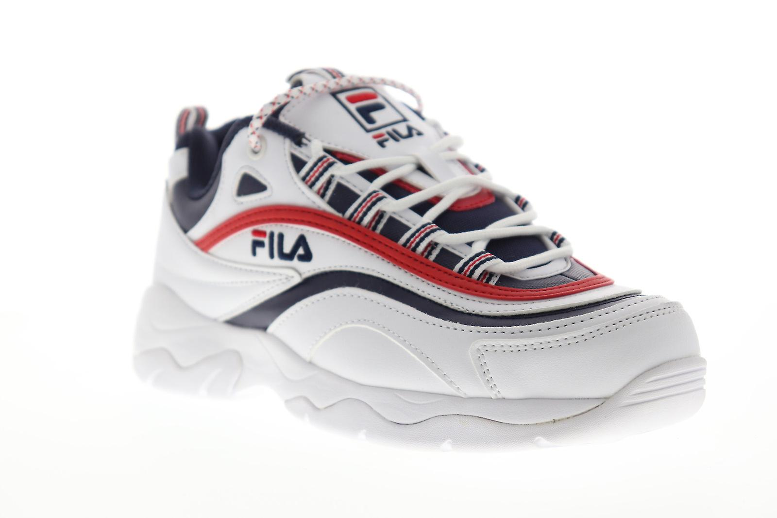 Fila Ray menns hvit casual Lace opp lav topp joggesko sko