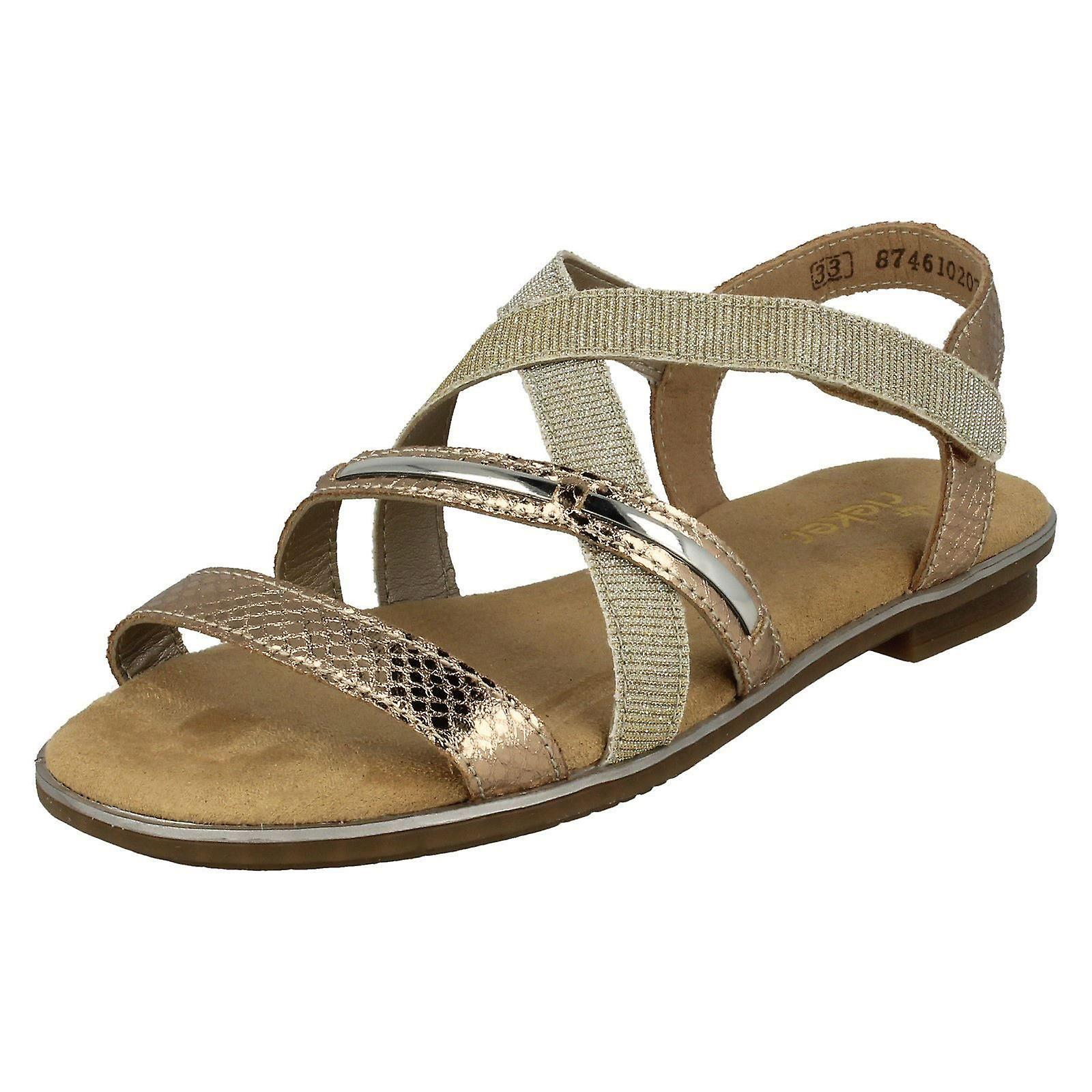 Girls Rieker Casual Strappy Sandals K0850 31 Rosa Synthetic UK Size 2.5 EU Size 35 US Size 3.5