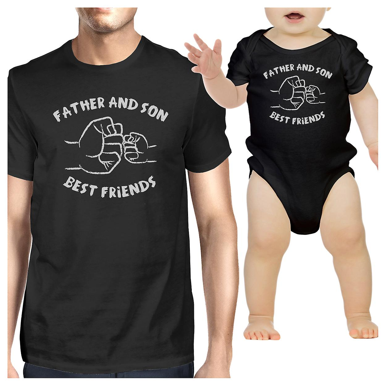 956ae077856 Father And Son Best Friends Black Matching Shirts Father s Day Gift ...