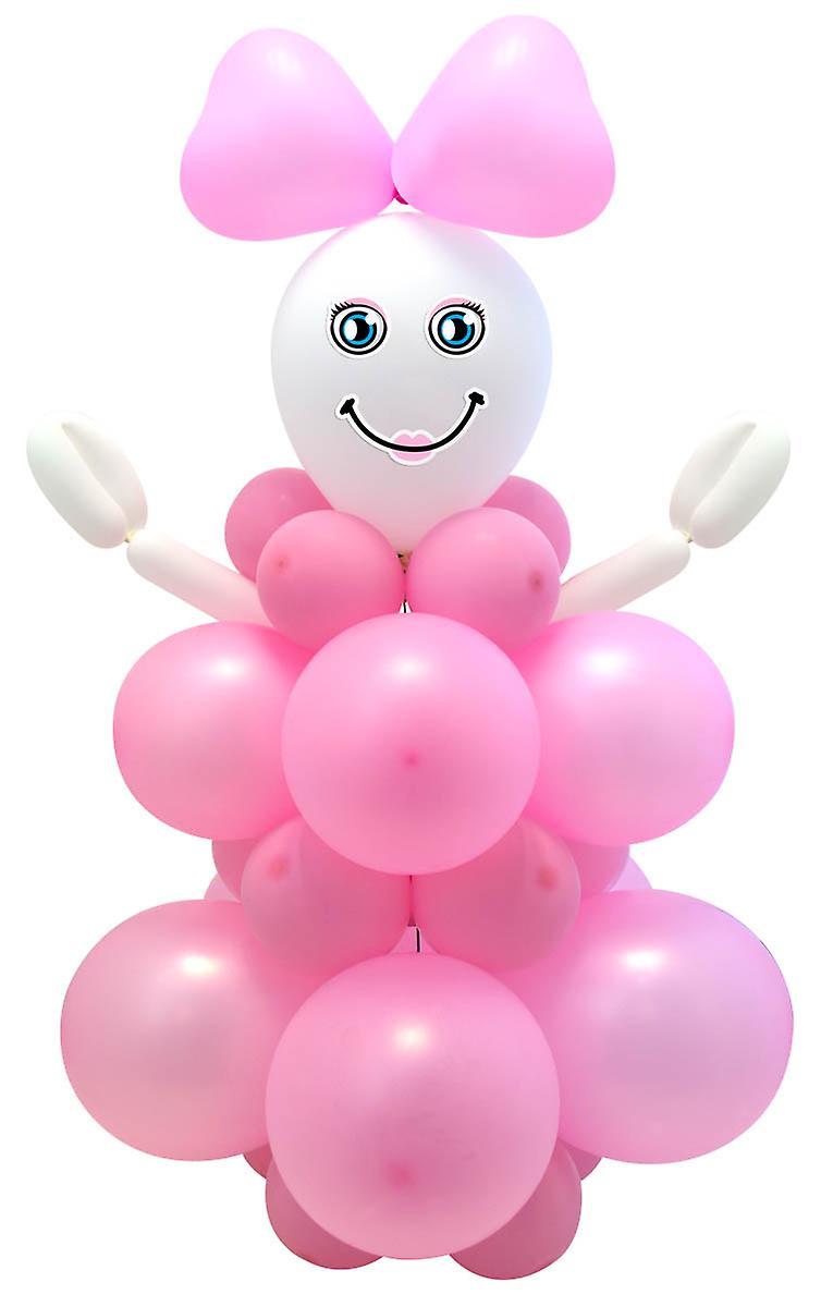Ballon Set DIY Baby Girl Mädchen Deko